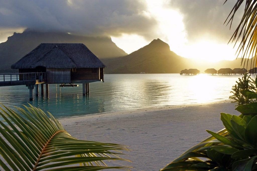 Over-the-water bungalow in French Polynesia