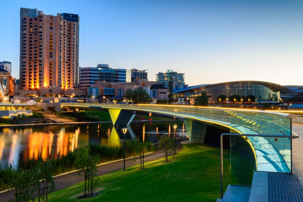 City of Adelaide at Night, Travel to Adelaide