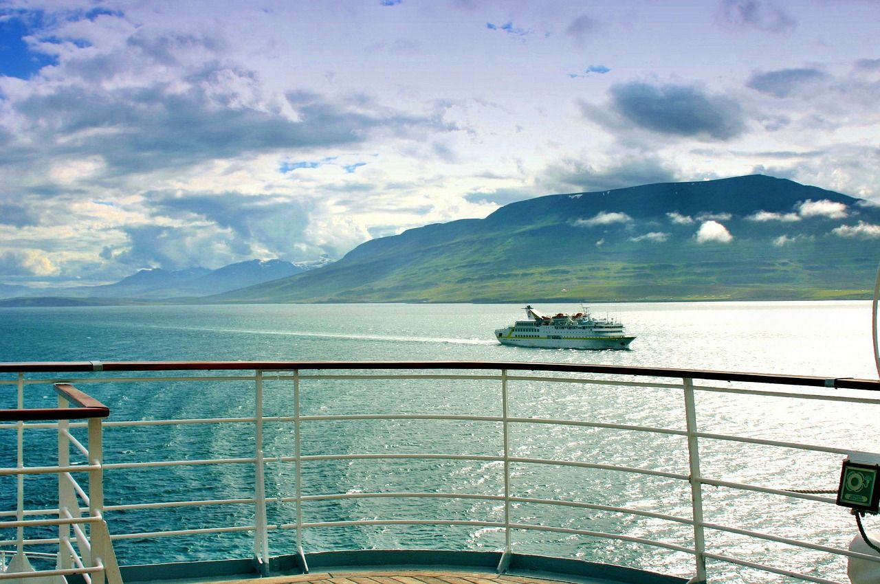 View of Iceland from cruise ship; Iceland cruise